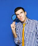 Business Man With Questions Searching For Answers Royalty Free Stock Image