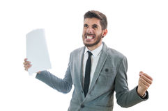 Business man rage. Getting very angry Stock Image