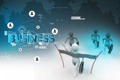 Business man reaching the finishing line Stock Image
