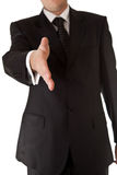 Business man reaching hand welcome Stock Image