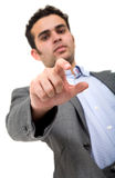 Business man reaching something Stock Image