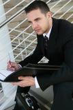 Business Man Reading Royalty Free Stock Photos