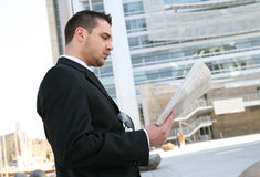 Business Man Reading Stock Image