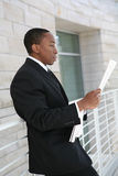 Business Man Reading Stock Photos