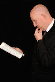 Business man reading  Stock Image