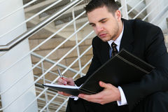 Business Man Reading Stock Photography