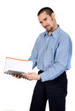 Business man reading a book Stock Photography