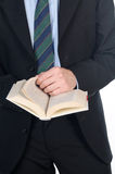 Business man reading a book Royalty Free Stock Image