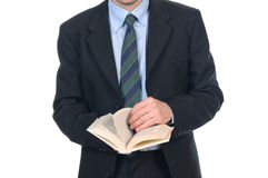 Business man reading a book Stock Images