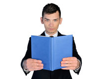 Business man reading book Royalty Free Stock Photography
