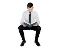 Business man reading book Royalty Free Stock Photo