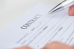 Business Man Reading Contract Royalty Free Stock Images