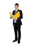 Business man reading file Royalty Free Stock Photography