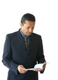 Business man reading - je Royalty Free Stock Image
