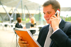Business Man Reading Report Royalty Free Stock Photography