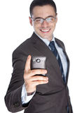 Business man reading text message Stock Photo