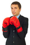 Business man ready for confrontation Stock Image