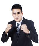Business man ready for a fight Royalty Free Stock Photography