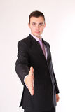Business man is ready for handshake Stock Photo