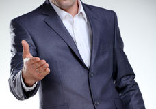 Business man ready for a handshake closeup Royalty Free Stock Photo