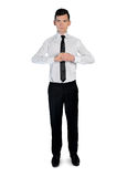 Business man  ready position Stock Images