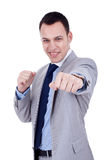 Business man ready to fight Stock Image