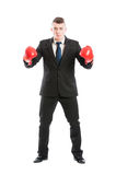 Business man ready to fight Stock Photos