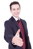 Business man ready to set a dea Royalty Free Stock Image