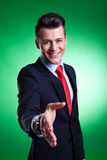 Business man ready to set a deal Royalty Free Stock Images