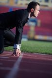 Business man ready to sprint Stock Image