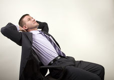 Business Man Reclining Royalty Free Stock Photos
