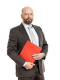 Business man with red folder Stock Image