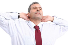 Business man relaxing Royalty Free Stock Image