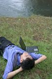 Business man relaxing Royalty Free Stock Photos
