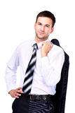 Business man relaxing Stock Images