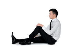 Business man relaxing position Stock Photos