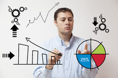 Business man resolving problems Royalty Free Stock Image