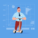 Business Man Ride Electric Scooter Modern Eco Transport Stock Images