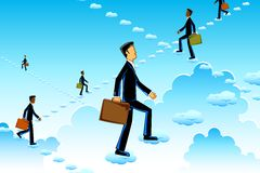 Business Man rising in SKy Royalty Free Stock Photography
