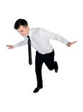 Business man risk step Stock Photo