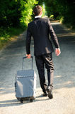 Business man on road Stock Images