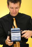 Business Man with Rolodex Royalty Free Stock Images