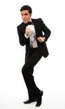 Business man run away Stock Image