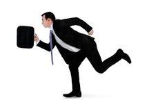 Business man run side Royalty Free Stock Image