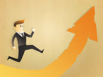 Business man run to the risk way Royalty Free Stock Images