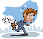 Business man running Stock Photo