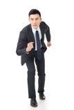 Business man running Royalty Free Stock Image