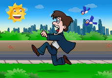 Business man running away Stock Image