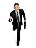 Business man running away Royalty Free Stock Photos