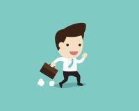 Business man running  in flat design Stock Photos